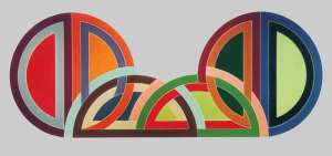 Frank Stella     Madinat as-Salam I , 1970     118 X 300 inches     Polymer and fluorescent paint on canvas     Frederick R. Wisman Art Foundation, Los Angeles, California